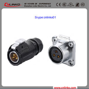 IP67 Industrial Connector 3pin with PBT Materials Shell Power Application Plug and Socket pictures & photos