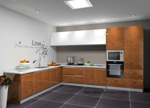 Veneer with Lacquer Kitchen Carbinet pictures & photos