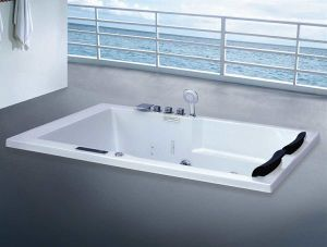 1800mm Rectangle Massage Bathtub SPA with Ce and RoHS for 2 Person (AT-LW0762B-1) pictures & photos