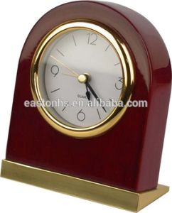 Wooden Gold Chrome LED Alarm Clock pictures & photos