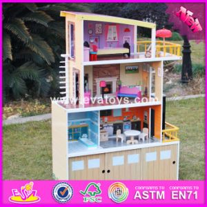 2017 Wholesale Luxurious Wooden Beachfront Mansion Dollhouse, Best Design Big Size Wooden Beachfront Mansion Dollhouse W06A153 pictures & photos