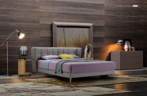 Bedroom Furniture New Elegant Design Modern Fabric Bed (HC858) pictures & photos