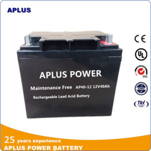 High Discharge Ability Solar Batteries 12V 40ah for Power Supply pictures & photos
