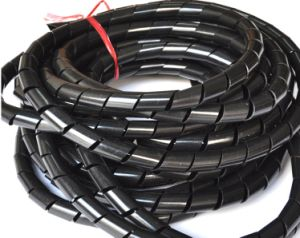 Cable Wire Tidy Wrap Spiral Wrapping Band Organizer Black 12mm pictures & photos