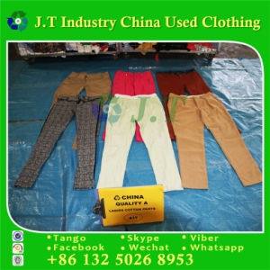 Secondhand Clothes, Shoes, Wholesale Used Ladies Cotton Pants in Turkey pictures & photos