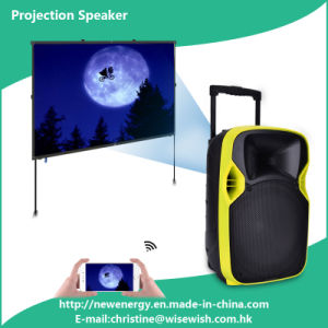 Professional 12 Inches Portable Loudspeaker with LED Projector pictures & photos