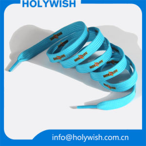 Cheap Custom Bulk Sneaker Rope Shoelaces with Screen Printed pictures & photos