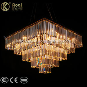 Square Luxury K9 Crystal Pendant Light pictures & photos