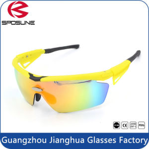 Yellow Frame Anti Shock Outdoor Sport Sunglasses pictures & photos