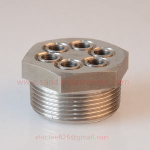 Stainless Steel Hex Head Hydraulic Fitting with 6 Hole / Flare Tube Fitting pictures & photos
