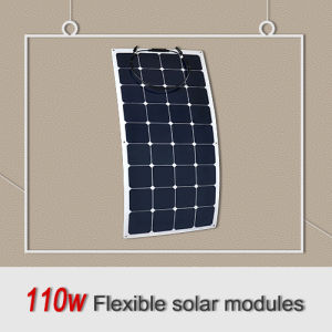 High Efficiency Factory Hottest Selling Flexible Bendable Solar Panel 110W