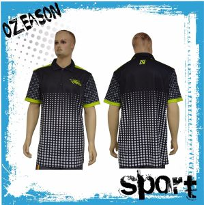 Customized Sublimation Printed Men′s Sport Polo T Shirts (P014) pictures & photos