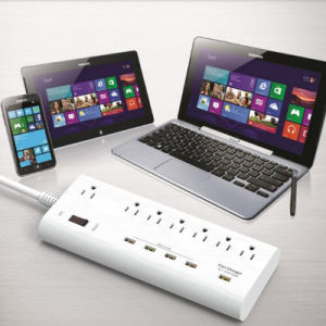 7 AC Us Plug Outlets 5 USB Ports Power Strip Charger pictures & photos
