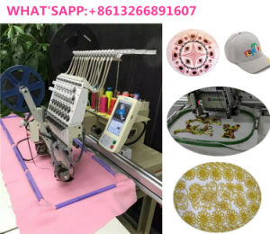 100% New Single Head Computerized Cording Embroidery Machine with Big Table pictures & photos
