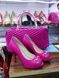 New Fashion Peep Toe High Heel Shoes with Matching Shoes (G-14) pictures & photos