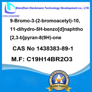 9-Bromo-3- (2-bromoacetyl) -10, 11-Dihydro-5h-Benzo[D]Naphtho[2, 3-B]Pyran-8 (9H) -One CAS No 1438383-89-1 pictures & photos