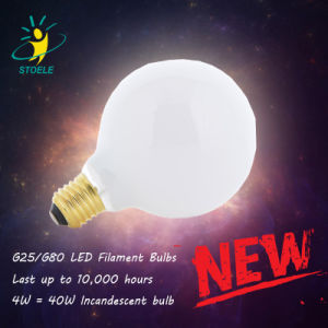 LED Filament Globe Bulb G25 Soft White (2700K-4000K) 6W pictures & photos