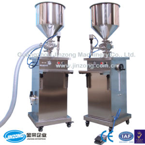 Jinzong Machinery Semi-Automatic Cream Lotion Cosmetic Liquid Filling Machine pictures & photos
