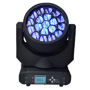 Bee Eyes 12W X 19 RGBW LED Moving Head Wash Zoom Beam Stage Light pictures & photos