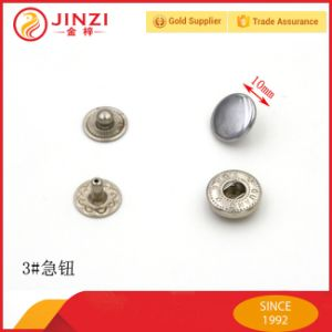 Decorative Shiny Zinc Alloy Metal Button pictures & photos