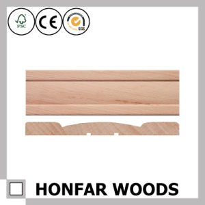 12X80mm High-End Oak Wood Skirting for Wall or Floor pictures & photos
