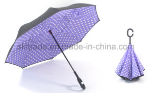 23 Inches Portable Handsfree Straight Reverse Inverted Umbrella pictures & photos
