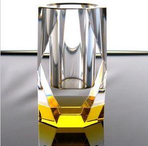 Office Suppliers Golden Color K9 Crystal Pen Holder