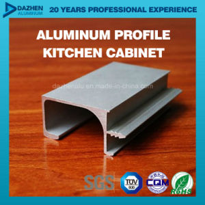 Aluminium Extrusion Profile for Customized Kitchen Cabinet Handle with Glossy Brush Matt Silver pictures & photos