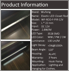 Elastic LED Rail for Wardrobes pictures & photos