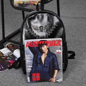 Korea Style PU Leather Double Shoulder School Bag (7001) for Boy pictures & photos