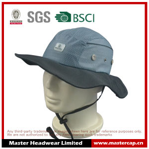 100% Polyester Bucket Hat for Outdoor with Silicone Patch