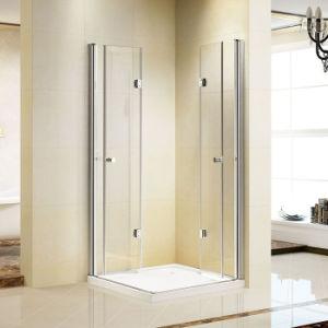 2 Bi Folding Doors Frameless Shower Cabin Enclosure (K-741) pictures & photos