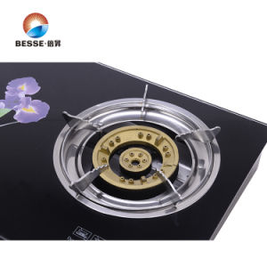 Tempered Glass Three Burners Gas Stove pictures & photos