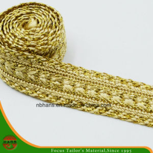 Golden Color Woven Tape-Hshd-09 pictures & photos