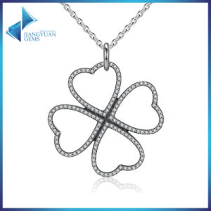 Summer New 925 Sterling Silver Petals of Love, Clear CZ Clover Necklace & Pendant for Women Chain Necklace pictures & photos