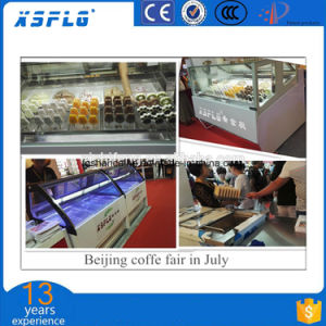 2018 New Style White and Black Color Ice Cream Showcase pictures & photos