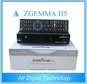 Hevc/H. 265 DVB-S2+T2/C Twin Tuners Zgemma H5 Linux OS E2 FTA Digital Receiver pictures & photos