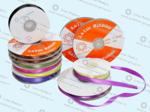 100% Polyester Double Face Satin Ribbon for Decoration pictures & photos