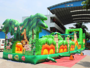 Jungle Themed Inflatable Obstacle Course Combo Obstacle pictures & photos