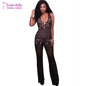 Donovan Lime Lace Top Strapless Romper Lady Jumpsuit Clothes (L55350) pictures & photos