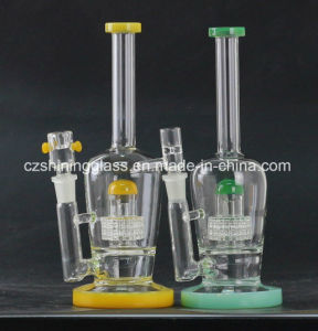 Perfect Colorful Cheaper Factory Smoking Glass Water Pipe for Tabacco pictures & photos
