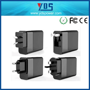 3-Port Quick Charger 3.0 Type-C Wall Phone Adapter 48W pictures & photos