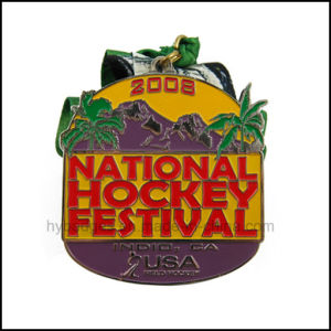 imitation Enamel National Hockey Festival Medal with Ribbon (GZHY-MEDAL-025) pictures & photos