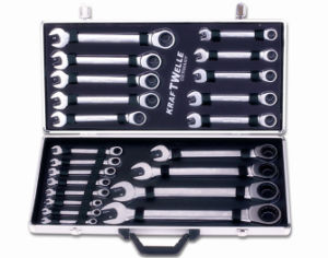 22PCS Best Selling& Chrome Vanadium Gear Wrench Set (FY1022A) pictures & photos