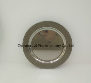 Plastic Plate, Disposable, Tableware, Tray, Dish, PS, SGS, Silver, PA-02 pictures & photos