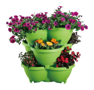 Stackable Plastic Flower Pot (KD3331-KD3332) pictures & photos