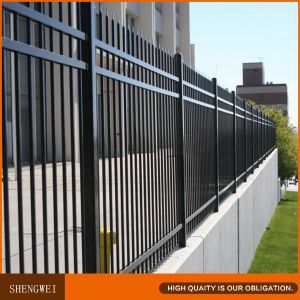 Black Galvanized Steel Pipe Fence pictures & photos