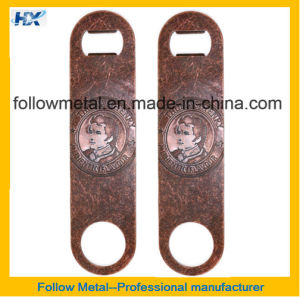 High Quality Iron Bar Blade Bottle Opener with Antique Copper Plating