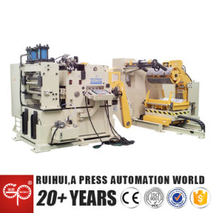 Hydraulic Metal 3 in 1 Nc Decoiler Straightener Feeder for Stamping Press Machine (MAC4-1000H) pictures & photos