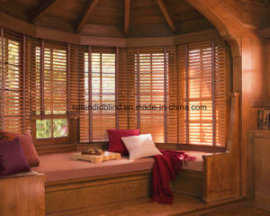 Indoor/ Interior 25mm/35mm/50mm Window Wood Blind Treatments pictures & photos